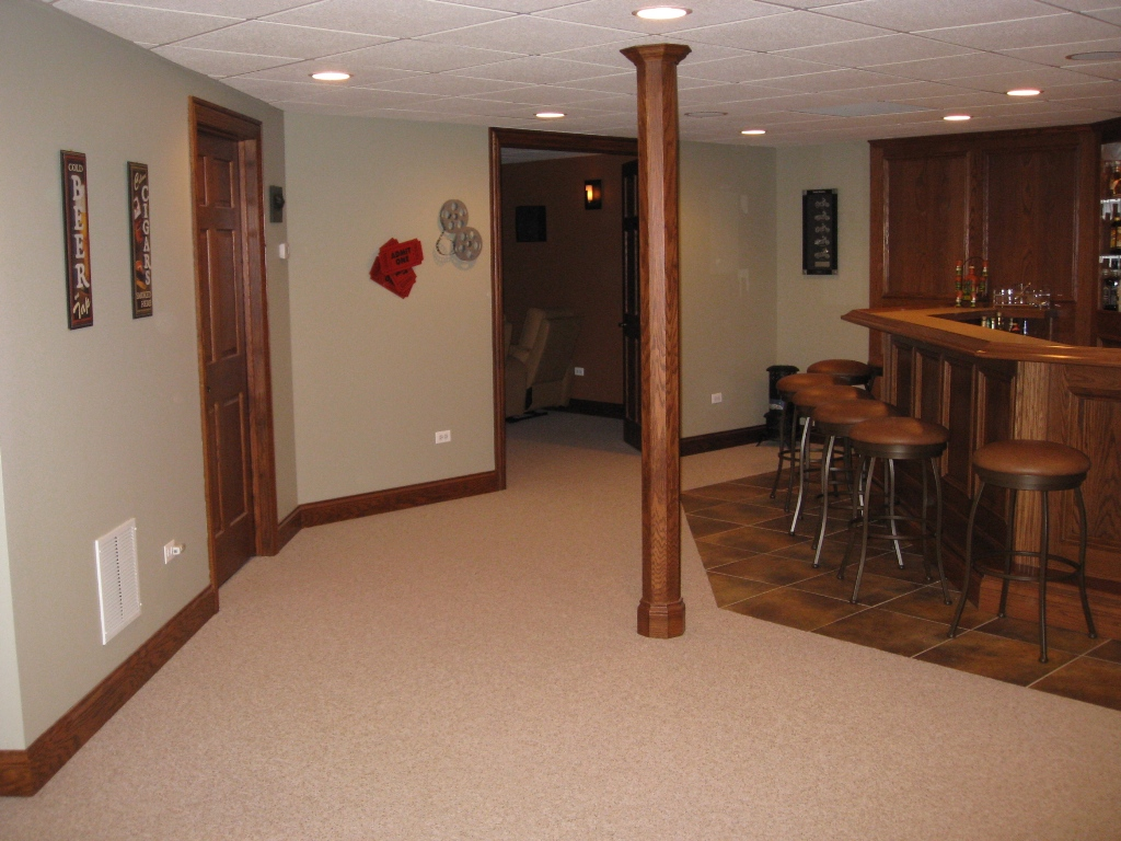 Custom finished basements and remodeling photos outback for Images of finished basements