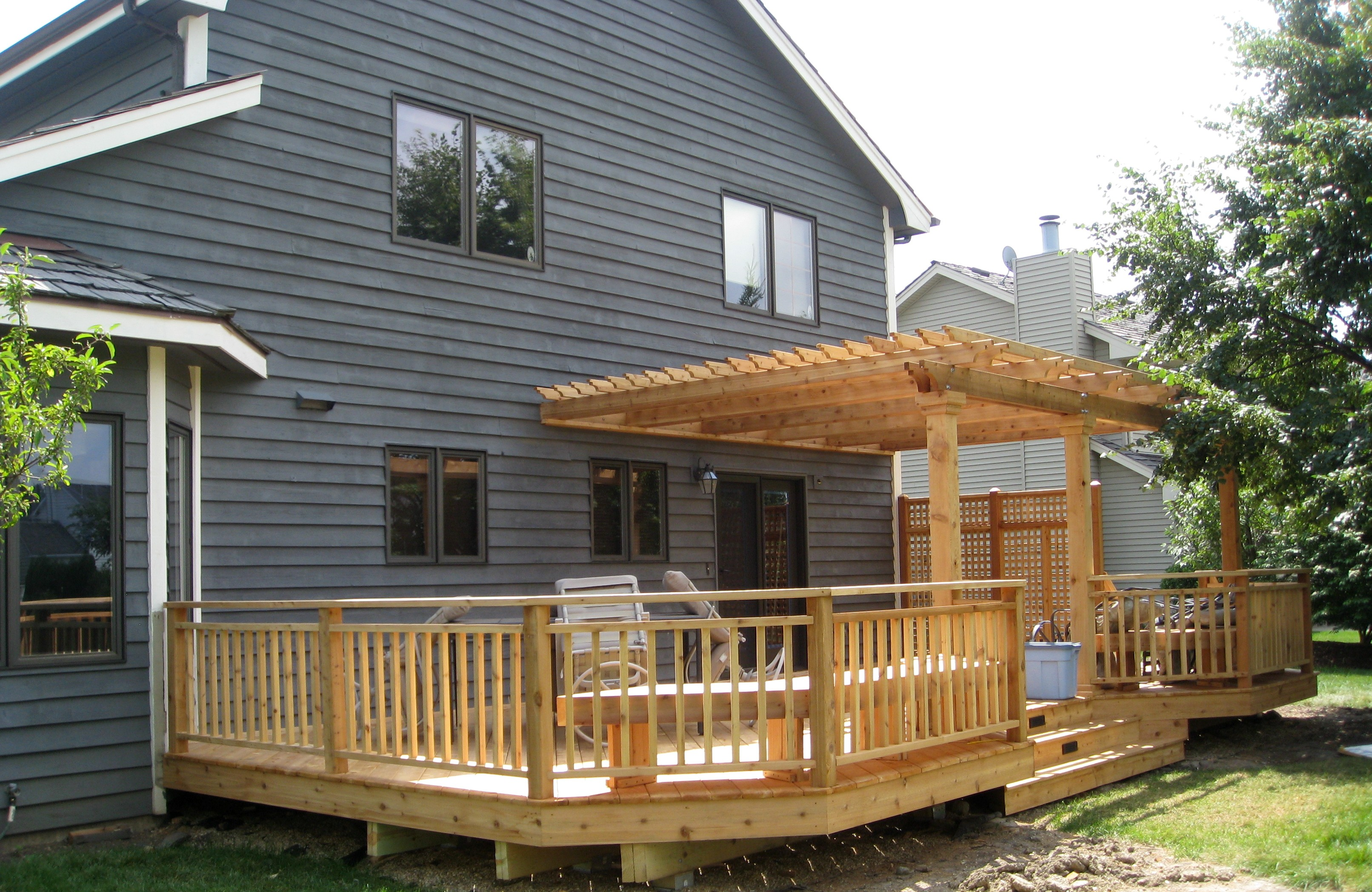 Custom built deck designs kids art decorating ideas for Deck house designs