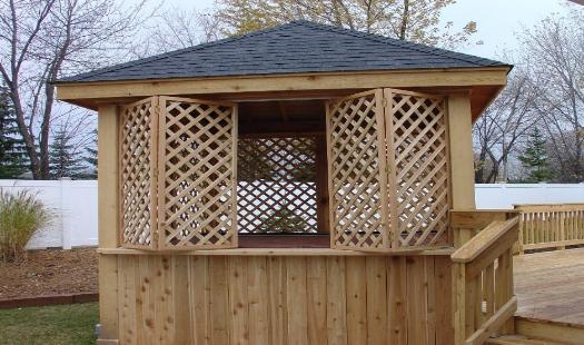 Custom Lattice Hot Tub Enclosure