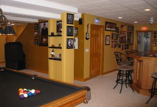 Finished Basement With pool Table Carpentersville IL