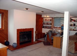 Basement Remodeling with Fireplace