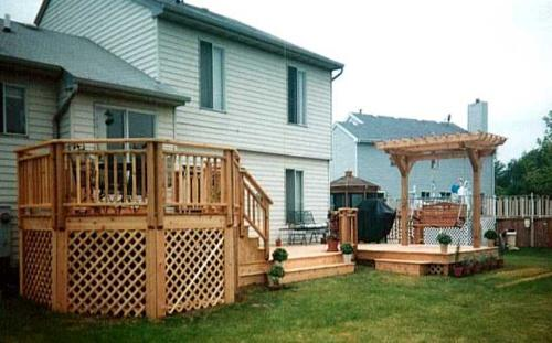 Cedar Deck with Arbor and swing