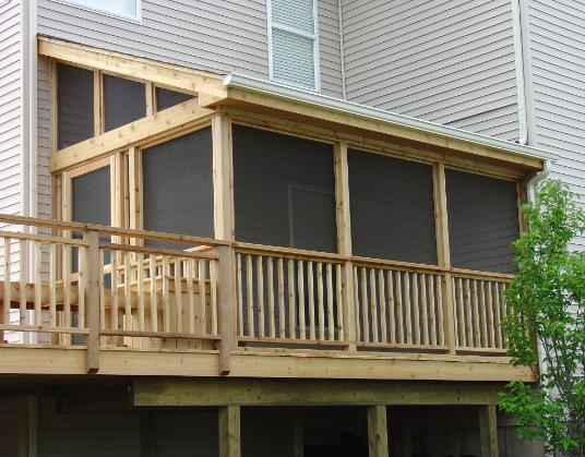 Cedar deck and screened room