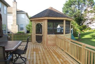 Corner Deck Gazebo Pingree Grove IL