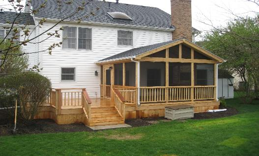 Custom deck and screened room St Charles