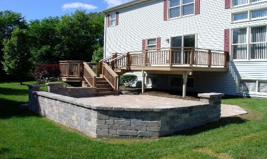 Trex deck with Patio