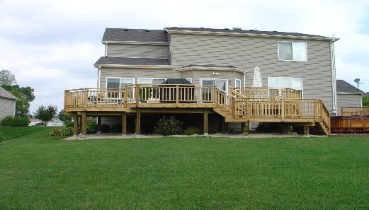 Large Cedar deck and Paver Patio