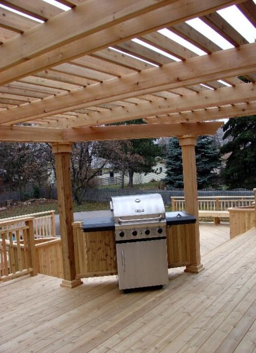 Deck with Pergola and Grill Area