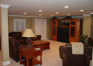 Finished Basement with Recessed Lights Elmhurst