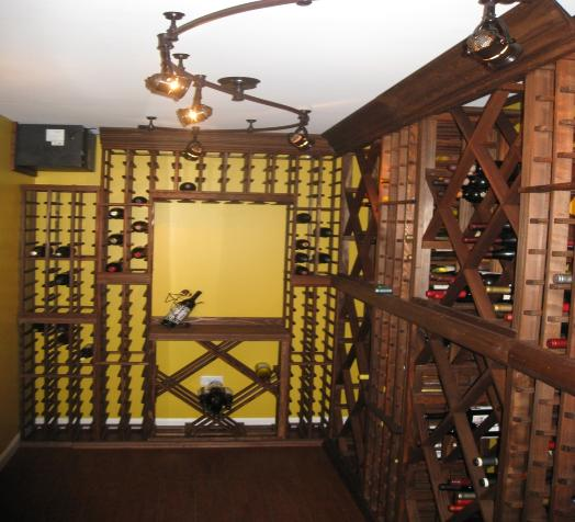 Finished Basement Wine Cellar Climate Controlled Elgin IL