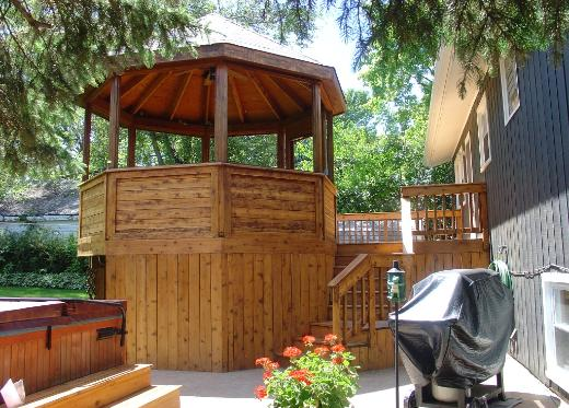 Gazebo with Paver Patio and Hot Tub