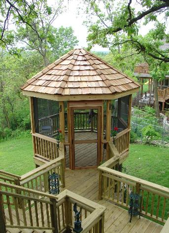 Gazebo with wood walk Cary IL