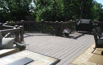 Trex deck and railing Crystal Lake