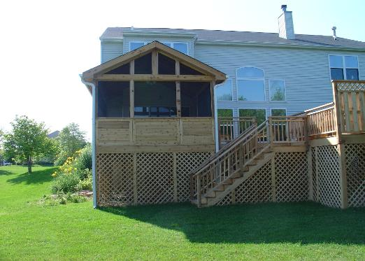 Large Cedar Deck with Screened Room 2 Crystal Lake IL