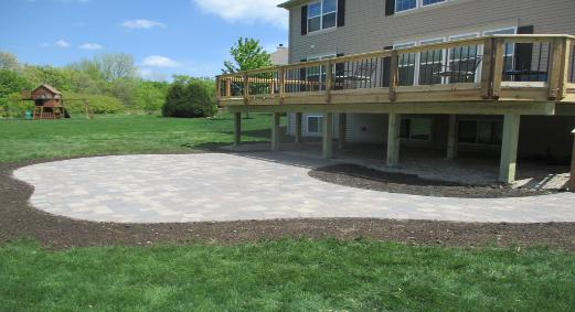 Paver Patio With Deck