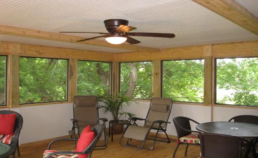Screened Room with Finished Interior Lake County IL