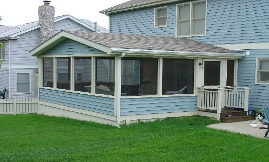 Screened Room With Vinyl Siding Algonquin IL