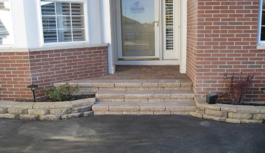 Stone Stair and Retaining Wall Entry