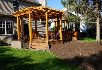 Trex Deck and pergola with Gazebo