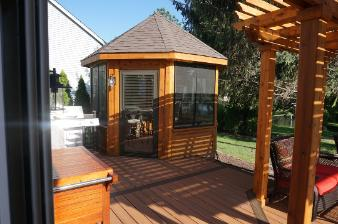 Trex  Deck and Cedar Gazebo Carpentersville IL
